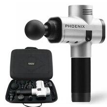 Phoenix A2 masaż pistolet profesjonalny masażer wibracyjny elektryczna opieka zdrowotna umięśnione ciało ból terapia przynosząca ulgę niski poziom hałasu 4 głowice