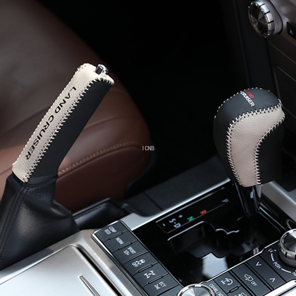 Image 3 - Automatic Leather Gear Hand Brake Cover for Toyota Land Cruiser 200 LC200 2008 2009 2010 2011 2012 2013 2014 2015 2016 2017 2018-in Chromium Styling from Automobiles & Motorcycles