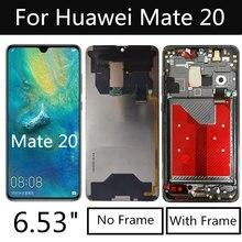 "6.53 ""LCD עבור Huawei Mate 20 תצוגת מגע מסך Digitizer עצרת עבור Huawei Mate20 HMA L09 L29 HMA TL00 AL00 LCD"