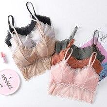 Underwear Padded Camisole Crop-Tops Lingerie Lace Bralette Seamless Women Tank Female