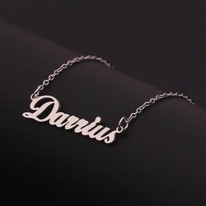 Женское Ожерелье из нержавеющей стали, ожерелье с надписью и кулоном, подарок для друзей