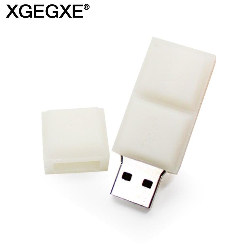 USB 2.0 Pendrive 64GB 32GB 16GB 8GB Mini Key Flash Drive Creative White Chocolate Storage Device U Disk For PC