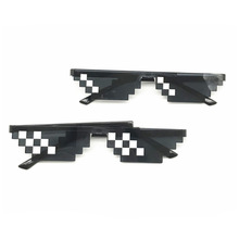 Thug Life Glasses Deal With It Pixel Women Men Black Mosaic Sunglasses