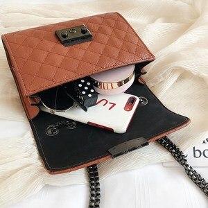 Image 4 - Small Messenger Chain Bag For Women 2020 Pu Leather Ladies Black Crossbody Bags Designer Luxury Woman Summer Shoulder Modis WE12