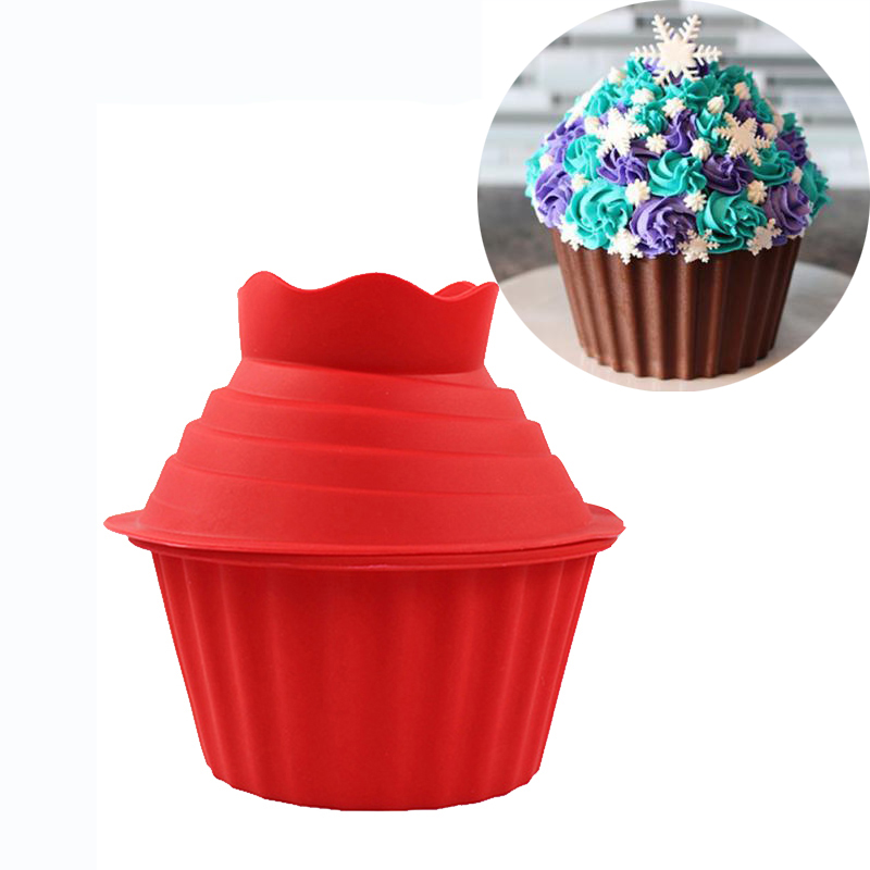 Giant Silicone Mould Big Top Cupcake Mold Non-Stick Heat Resistant Cake Fondant Mold DIY Cake Decorating Baking tools