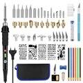 56 шт.  деревянный комплект для выжигания  инструмент для сжигания дерева  креативный набор  ручка для вырезания  паяльник  набор  ручка для пи...