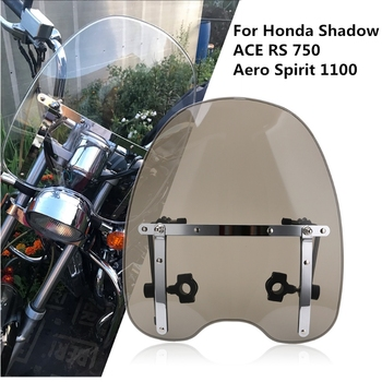 New Motorbike Windshield Windscreen For Honda Shadow ACE RS 750 Aero Spirit 1100 Wind Deflectors Clear Motorcycle Accessories