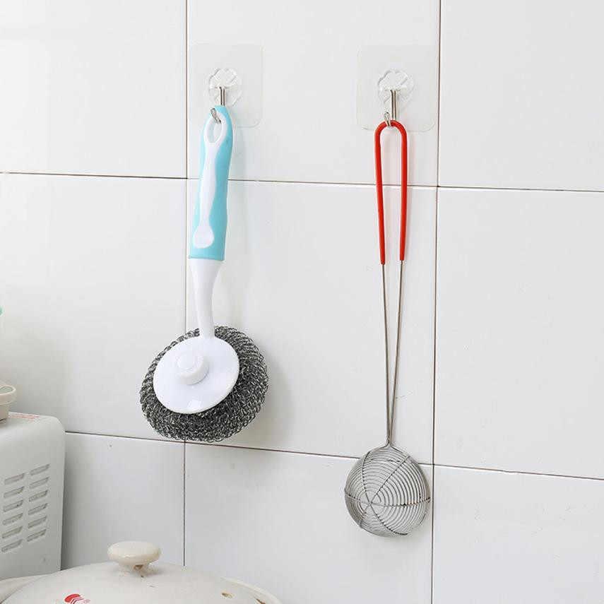 2018 ドロップシッピングノーマークフック 6 個の強力な透明吸盤吸盤壁のフックキッチン浴室