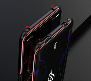 Image 4 - For ASUS ROG 2 ROG2 Case Metal Frame Double Color Aluminum Bumper Protect Cover for ASUS ROG Phone II Case
