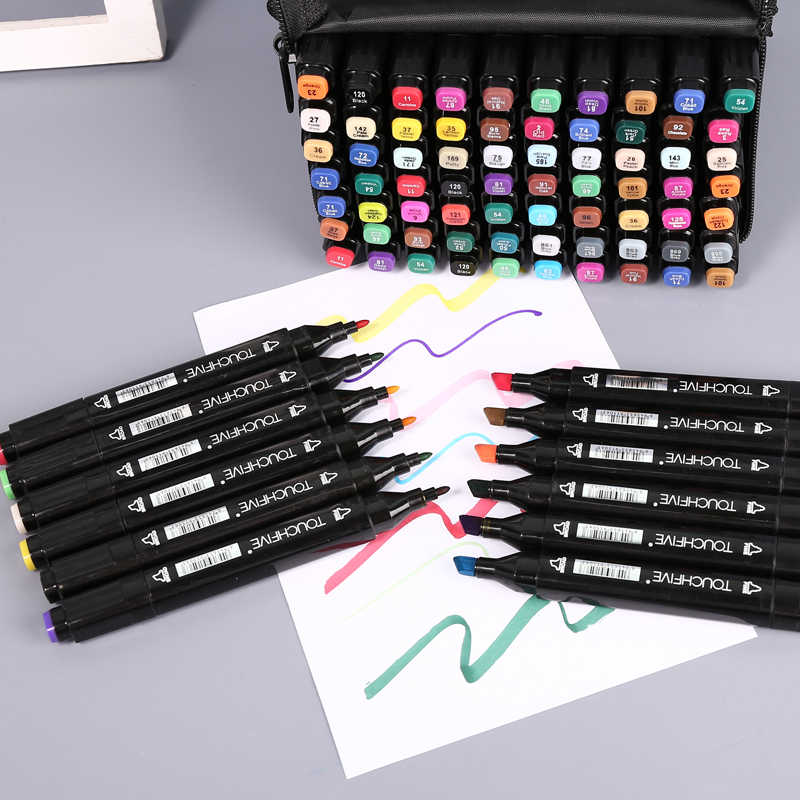 80er Graphic Marker TouchFive Twin Alcohol Sketch Marker Pen painting markers