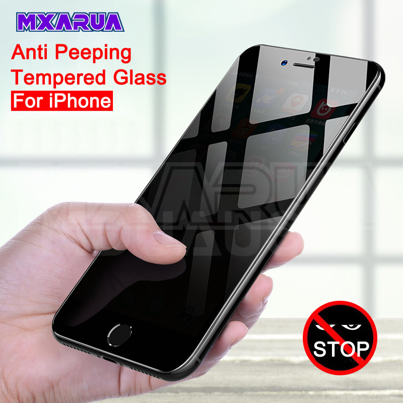 Anti Spy Tempered Glass For IPhone 7 6 8 Plus 5 5S SE Privacy Screen Protector Film IPhone 11 Pro X XR XS Max Protective Glass