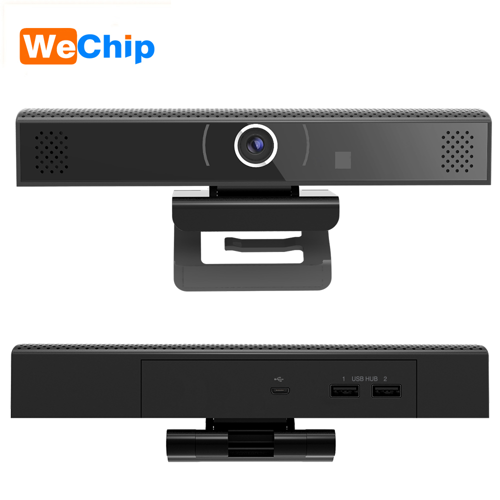Mini 1080P HD Webcam All in one Video and Audio Conference Webcam Drive Free Plug And Play USB Home Web Camera Built in Mic