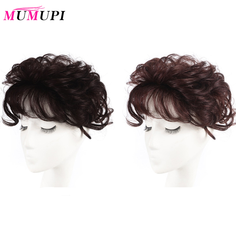 MUMUPI Natural Topper Hairpiece Top Hair Piece Women Curly Corn Beard Hair Replacement Clip Closure Hair Extensions