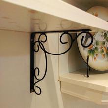 2 uds. De hierro fundido montaje clásico en pared triángulo estante soporte estantes decorativos negro blanco hogar Decoración