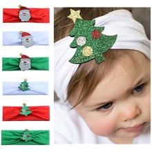 цена Baby Headband Baby Girl Christmas Headbands for Girls Turban Baby  Baby Santa Claus Headband Christmas tree Hair Accessories онлайн в 2017 году