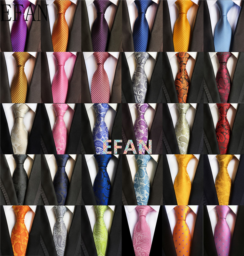 8cm Tie for Man 100% Silk Tie Luxury Classic Solid Plaid Ploka Dots Business Neck Ties for Men Suit Cravat Wedding Party Necktie