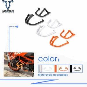 Image 1 - Motorcycle Engine Guard Frame Slider Crash Bar Crashbar Protector Bumper Set For ktm Duke 390 2014 Crash Bars Frame duke390 250
