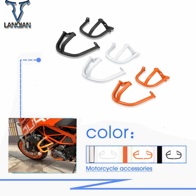 Motorcycle Engine Guard Frame Slider Crash Bar Crashbar Protector Bumper Set For ktm Duke 390 2014 Crash Bars Frame duke390 250