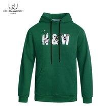 HW 패션 브랜드 남성 후드 봄 가을 남성 캐주얼 후드 티 스웨터 탑 Quailty 남성 풀오버 스웨터