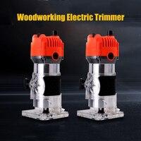 EU US Plug obróbka drewna elektryczny trymer frezarka do drewna grawerowanie dłutowanie maszyna do przycinania ręczna frezarka do drewna frezarka do drewna w Frezarki do drewna od Narzędzia na