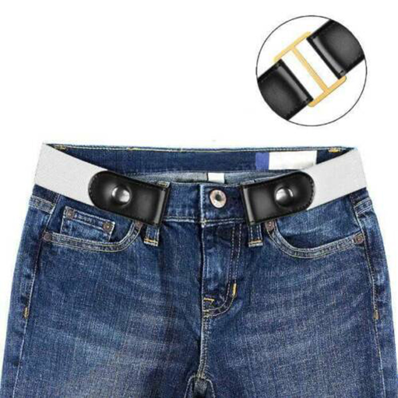 Hot Buckle Free Stretchable Lazy Belt Elastic Waist Belt Invisible for Jeans Pant Dress K2