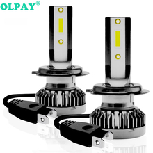 OLPAY 2PCS H7 LED Mini Car Headlight Bulbs H4 H8 H9 H11 12000LM Headlamps Kits 9005 HB3 9006 HB4 Auto 12V 24V Lamps