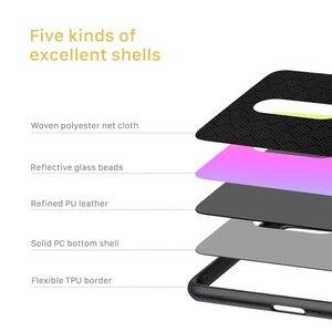 Image 4 - Étui pour OnePlus 7 7T Pro OnePlus7 housse NILLKIN étui scintillant polyester maille protecteur réfléchissant PC couverture arrière pour OnePlus7 Pro