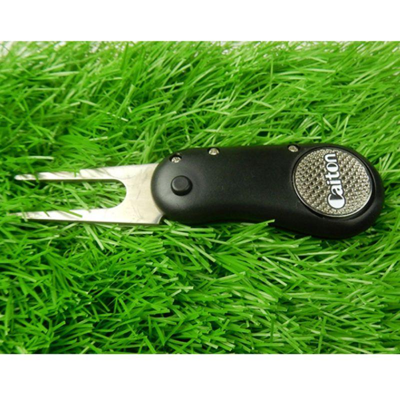 RPortable Folding Detachable Ball Training Pitch Cleaner Pitchfork Golf Divot Repair Tool Durable Putting Green Fork Golf Stuff