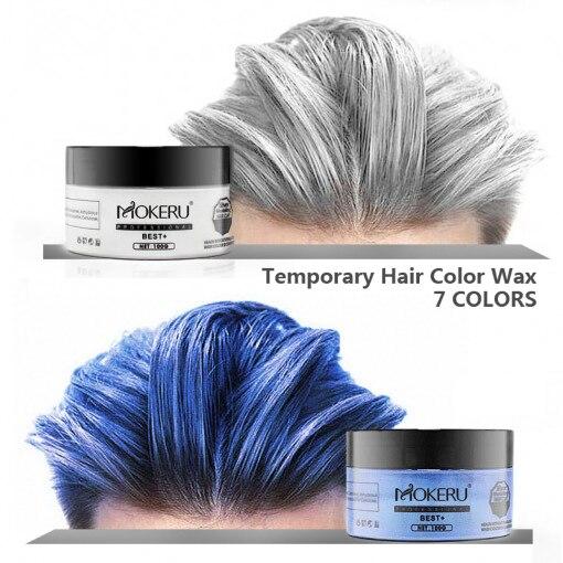 Hair Color Wax Women Men Styling DIY Mud Paste Dye Cream Hair Gel Salon Hair Coloring Molding MH050