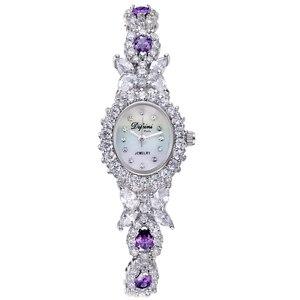 Image 2 - ديفيني سوار ساعة الإناث ساعة عادية موضة السيدات ساعة مقاوم للماء ساعة كوارتز امرأة ساعة الإناث