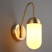 European Wall Lights Modern LED Wall Lamp Gold Iron Glass Corridor Bedroom Bedside Living Room Indoor Lighting Fixture Luminaire fashion rustic wall lamps vintage wrought iron wall lamp indoor lighting corridor wall mounted lights bedside sconce living room