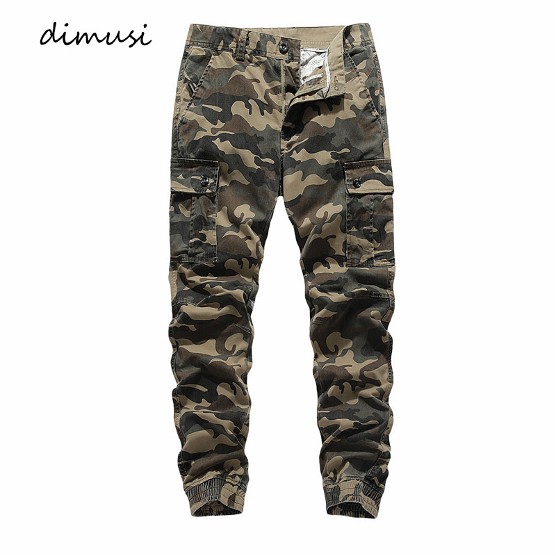 DIMUSI New Mens Cargo Joggers Casual Man Fitness Sportswear Tracksuit Sweatpants Male Camouflage Military Trousers Jogger Pants