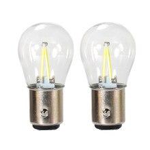2 шт. TCar светильник лампа накаливания чип P21w Ba15s 1156 Led авто Белый 1157 24v Светодиодные инструкции лампа обратного поворота