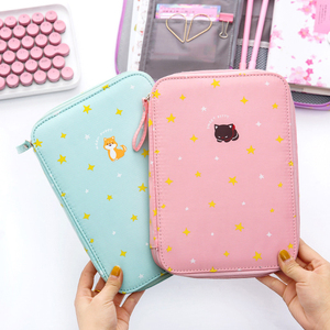 Image 3 - Korea Multifunction School Pencil Case & Bags Large Capacity Canvas Pen Curtain Box For Boy Students Gifts Stationery Supplies