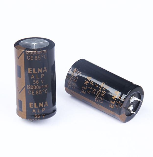 2PCS NEW ELNA ALP 12000UF/56V 30X55MM 56V12000UF Gold filter electrolytic capacitor 56V 12000UF 85 degrees 12000UF56V