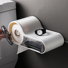 Multifunctional Free Punching Tissue Box Toilet Paper Shelf Plastic Storage Box Toilet Rack Waterproof For Bathroom Accessories