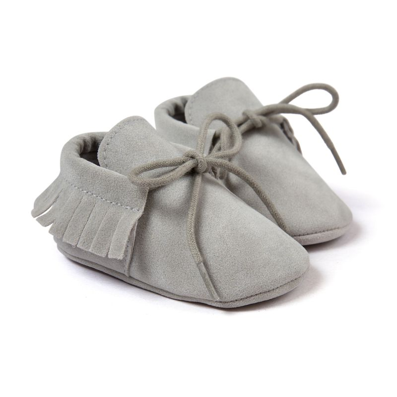 Newborn Baby Boy Girl Moccasins Shoes Fringe Soft Soled Tassel Footwear Crib Shoes PU Suede Leather First Walker Shoes