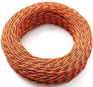 5M 16 feet 22AWG 26awg 30/60 Core 3 way Twist Servo Extension Cable JR Futaba Twisted Wire Lead For RC Airplane Accessories(China)