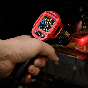 Image 4 - Infrarood Thermometer Digitale Weerstation Hygrometer Temperatuur Meter Vochtigheid Ambient Meter Laser Thermometre