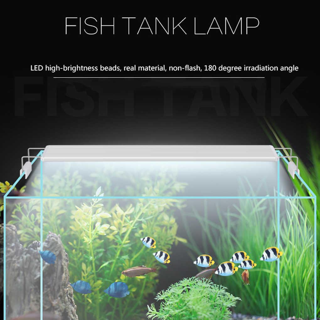 مصباح خزان الأسماك سوبر سليم المصابيح حوض السمك الإضاءة تمديد قوس النباتات المائية كليب على ضوء الاتحاد الأوروبي التوصيل
