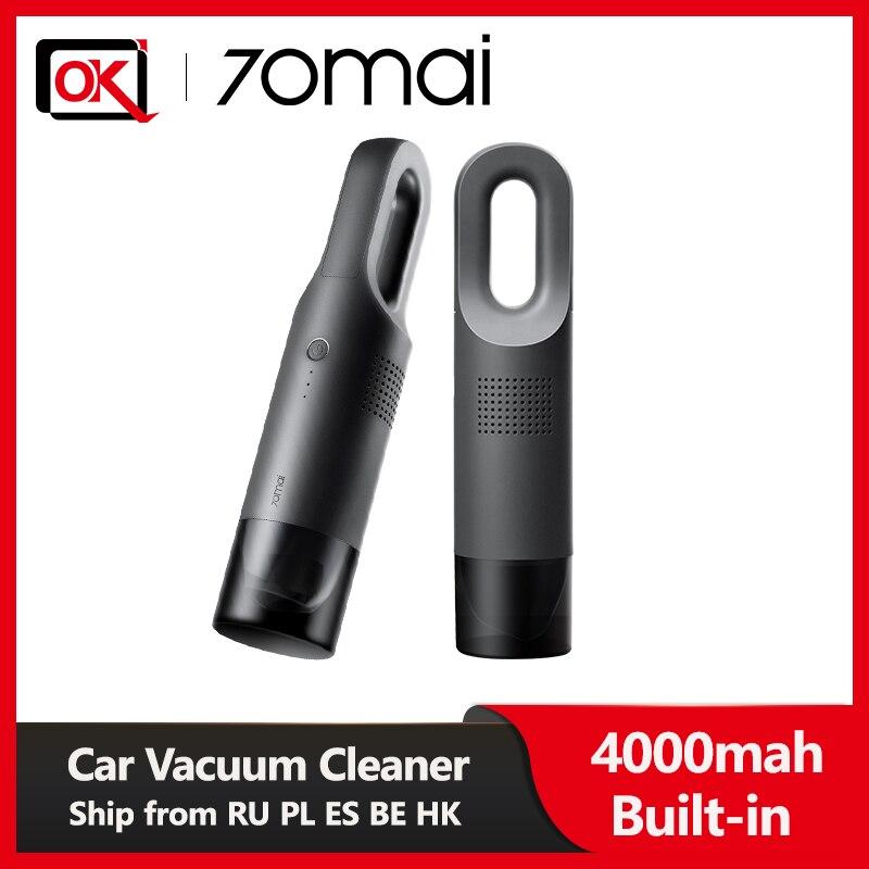 70mai araba elektrikli süpürge kablosuz el 70mai araba elektrikli süpürgesi 5000Pa güçlü emme araba ev kullanımı