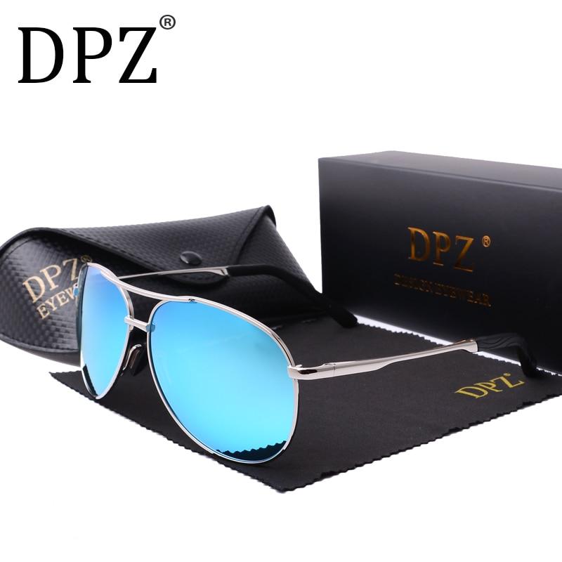 DPZ Polarized Sunglasses Men Metal  New Pattern Aviation Women Classic Retro Brand Designer Vintage UV400 Sun Glasses No Box