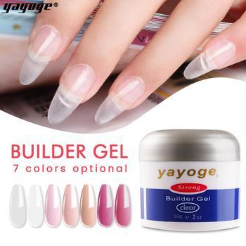 YAYOGE 56g żel odbudowujący przedłużenie paznokci żel 7 kolorów kryształ do paznokci przedłużanie palców formularz porady lakier żelowy UV Nail Art tanie i dobre opinie CN (pochodzenie) Jedna jednostka Żel do paznokci 50 ml Żel do polerowania N16-Pink 1 pcs nail uv gel Builder gel extended gel