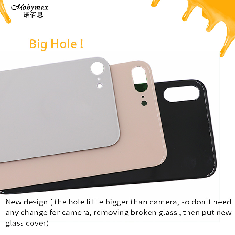 Back-Cover Door-Body-Housing-Parts iPhone 8 Glass for Plus-X-Xs Max Rear with Big-Hole
