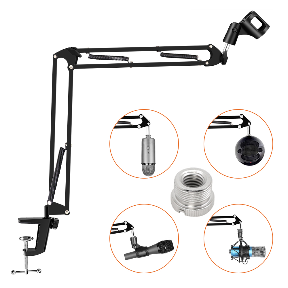 2020 New Arrival Microphone Arm Stand Holder Adjustable Suspension Scissor Boom Mic Clip Stand Shock Mount Kit for PC Recording