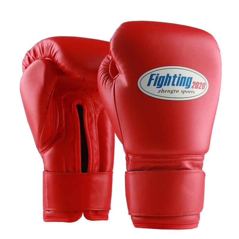 Genuine Leather Boxing Gloves Punch Bag Training Sparring Muay Thai 8oz for Kids