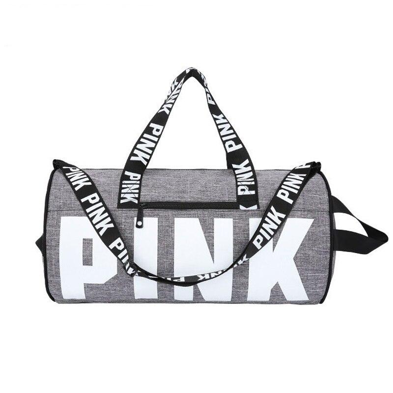 2019 Women Travel Duffle Fashion Pink Letter Handbags Large Capacity Travel Totes Waterproof Beach Bag Shoulder Bag