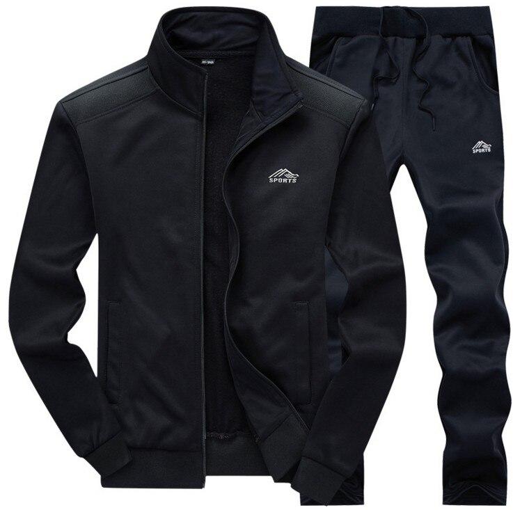 DIHOPE Men Sets Fashion Autumn Spring Sporting Suit Sweatshirt +Sweatpants Mens Clothing 2 Pieces Sets Slim Tracksuit Fit