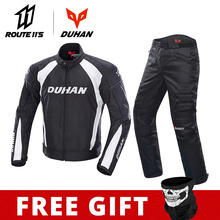 DUHAN Motorcycle Jacket Men Protective Gear Moto Jacket Motorcycle Pants Windproof Cold-proof Touring Motorbike Riding Suit motorcycle jacket duhan autumn winter windproof cold proof men motocross equipment gear cotton motorbike protective jacket