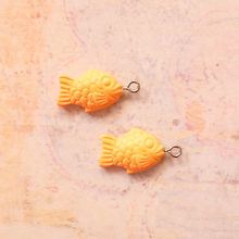 5PCS Resin Fish Biscuits Charms Jewelry Necklace Pendant Keychain Charms For Earring DIY Bracelet Decorations Jewelry Accessory(China)